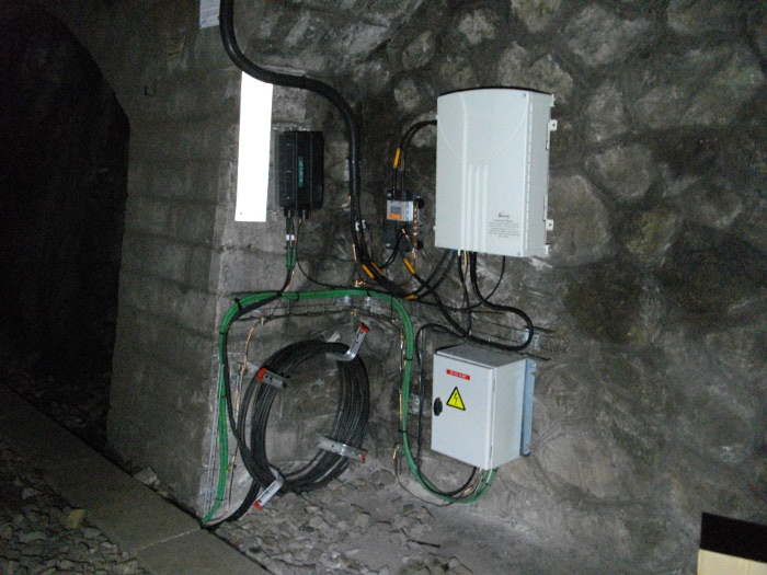 SELECOM TETRA Optical Remote Unit Repeater in Railway Tunnel